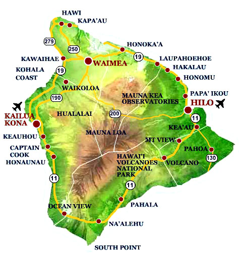 Big Island Hawaii Maps And Information